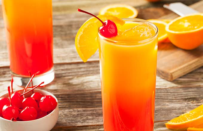 Receta Para Preparar Tequila Sunrise